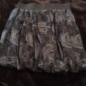 NWT Grey Bubble Skirt